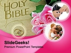 Bible Rose Rings Wedding PowerPoint Templates And PowerPoint Themes 0712