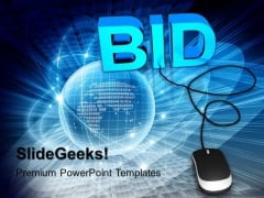 Bid With Computer Mouse PowerPoint Templates And PowerPoint Themes 1012