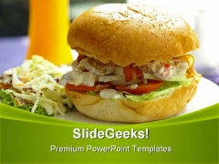 Big Burger Food PowerPoint Templates And PowerPoint Backgrounds 0211