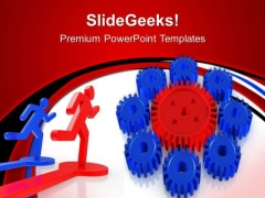 Big Gear With Small Gearwheels PowerPoint Templates And PowerPoint Themes 0612