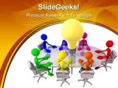 Big Idea Meeting People PowerPoint Templates And PowerPoint Backgrounds 0211