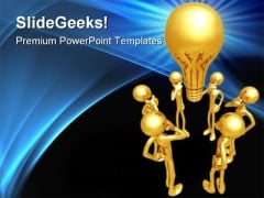 Big Idea Thinkers Business PowerPoint Templates And PowerPoint Backgrounds 0311