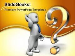 Big Question Metaphor PowerPoint Template 0910