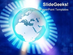 Binary Blue Earth PowerPoint Themes And PowerPoint Slides 0411