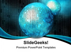 Binary Code Internet PowerPoint Themes And PowerPoint Slides 0511