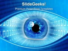 Binary Eye People PowerPoint Template 0810
