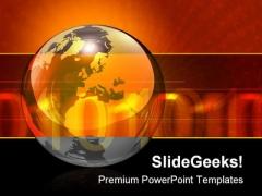 Binary Globe Banner Business Template 1010