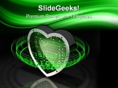 Binary Love Symbol Metaphor PowerPoint Themes And PowerPoint Slides 0511
