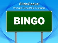 Bingo Highway Signpost Metaphor PowerPoint Themes And PowerPoint Slides 0811