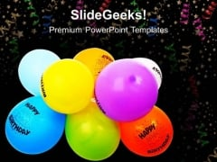 Birthday Balloons Events PowerPoint Templates And PowerPoint Themes 0512