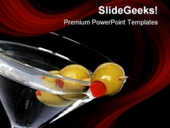 Black Martini Food PowerPoint Templates And PowerPoint Backgrounds 0611