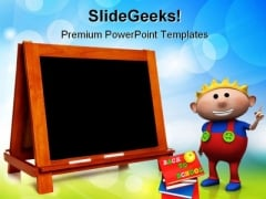 Blank Chalkboard Education PowerPoint Themes And PowerPoint Slides 0511