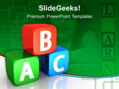 Blocks Education PowerPoint Templates And PowerPoint Themes 0512