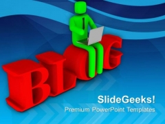 Blog Reading Is Good Habbit PowerPoint Templates Ppt Backgrounds For Slides 0613