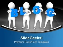 Blog Writing Requried Deep Thoughts Of Topic PowerPoint Templates Ppt Backgrounds For Slides 0713