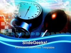 Blood Pressure Checking Medical PowerPoint Templates And PowerPoint Backgrounds 0311
