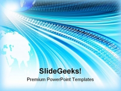 Blue Background With Globe Design PowerPoint Templates And PowerPoint Backgrounds 0311