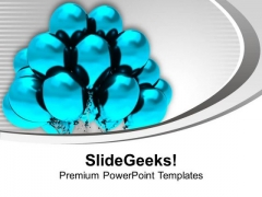 Blue Balloons For Theme Party PowerPoint Templates Ppt Backgrounds For Slides 0513