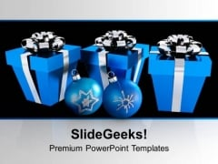 Blue Boxes And Christmas PowerPoint Templates Ppt Backgrounds For Slides 0113