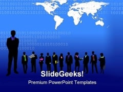 Blue Business Background Global PowerPoint Templates And PowerPoint Backgrounds 0511