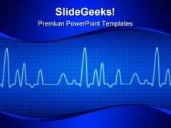 Blue Cardiogram Medical PowerPoint Templates And PowerPoint Backgrounds 0211