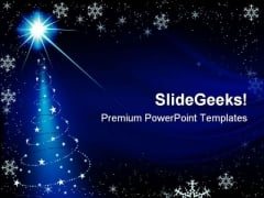 Blue Christmas PowerPoint Template 0610