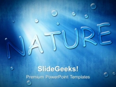 Blue Dew Drops Nature PowerPoint Templates And PowerPoint Themes 0312