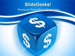 Blue Dice Business PowerPoint Backgrounds And Templates 1210