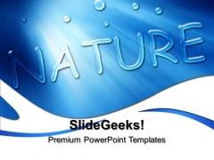 Blue Drops Nature PowerPoint Templates And PowerPoint Themes 0512