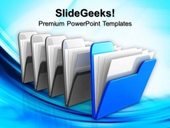 Blue Folder Internet PowerPoint Templates And PowerPoint Themes 0812