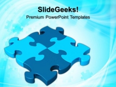 Blue Jigsaw Puzzles Business PowerPoint Templates And PowerPoint Themes 0612