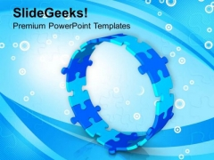 Blue Jigsaw Puzzles Business Process Cycle PowerPoint Templates Ppt Backgrounds For Slides 0513