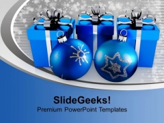 Blue Ornaments And Gifts Christmas Eve PowerPoint Templates Ppt Backgrounds For Slides 1112