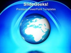 Blue Planet Earth PowerPoint Themes And PowerPoint Slides 0411