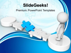 Blue Puzzle Business PowerPoint Templates And PowerPoint Themes 1012