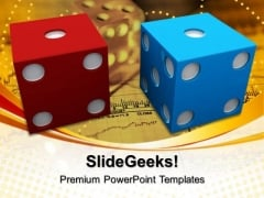 Blue Red Dice Marketing PowerPoint Templates And PowerPoint Themes 0712