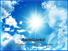 Blue Sky Nature PowerPoint Templates And PowerPoint Backgrounds 0611