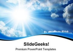 Blue Sky Nature PowerPoint Themes And PowerPoint Slides 0811