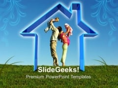 Blue Sweet Home Nature PowerPoint Templates And PowerPoint Themes 0812