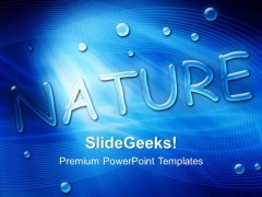 Blue Water Drops Nature Beauty PowerPoint Templates And PowerPoint Themes 0412