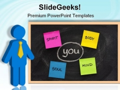 Body Mind Soul Spirit Business PowerPoint Templates And PowerPoint Backgrounds 0611