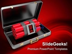 Bomb In Case Security PowerPoint Templates And PowerPoint Backgrounds 0211