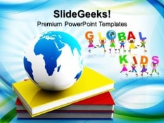 Book And Globe Business PowerPoint Templates And PowerPoint Themes 0812