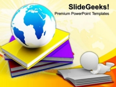 Book And Globe Education PowerPoint Templates And PowerPoint Themes 0812