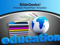 Book And Mini Global Education Global Issues PowerPoint Templates Ppt Backgrounds For Slides 0113