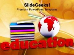 Book And Mini Global Education PowerPoint Templates And PowerPoint Themes 1012