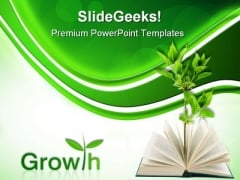 Book And Plant Business PowerPoint Templates And PowerPoint Backgrounds 0511