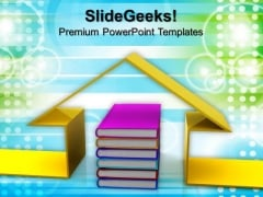 Book And The House Conceptually Children PowerPoint Templates And PowerPoint Themes 0912