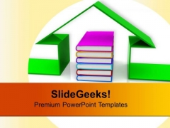 Book And The House Conceptually Future PowerPoint Templates Ppt Backgrounds For Slides 0113