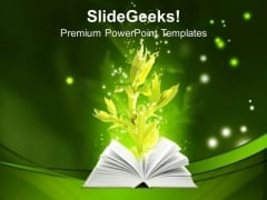 Book Of Ground Magic Education PowerPoint Templates And PowerPoint Themes 0712